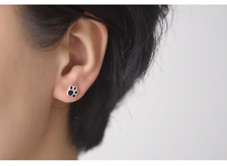 0e7b842f4 Paw Print Stud Earrings (Sterling Silver) - Pup Bling