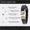 Genuine Leather Elegant Buckle Collar