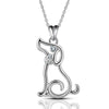 Pup Contour Pendant Necklace (Sterling Silver)