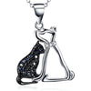 Cat & Dog Lovers Necklace Pendant (Sterling Silver)