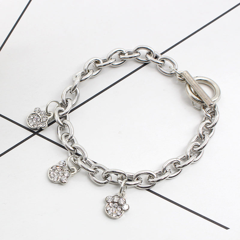 Crystal paw pendant bracelet pup bling crystal paw pendant bracelet aloadofball Gallery