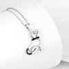 Puppy Black Crystal Pendant (Sterling Silver)
