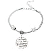 """No Longer By My Side But Forever in my Heart"" Charm Bracelet"