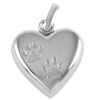 Paw Prints Heart Urn Locket