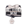 """Bull Terrier Mom"" Infinity Love Bracelet"