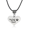 """You Had Me At Woof"" Leather Chain Pendant Necklace"