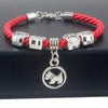 Hand-Woven Rope Chain Bracelet with Dog Paw Charm