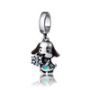 Flower Dog Charm (Sterling Silver)