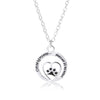 """Once By My Side Forever In My Heart"" Paw Pendant Necklace"