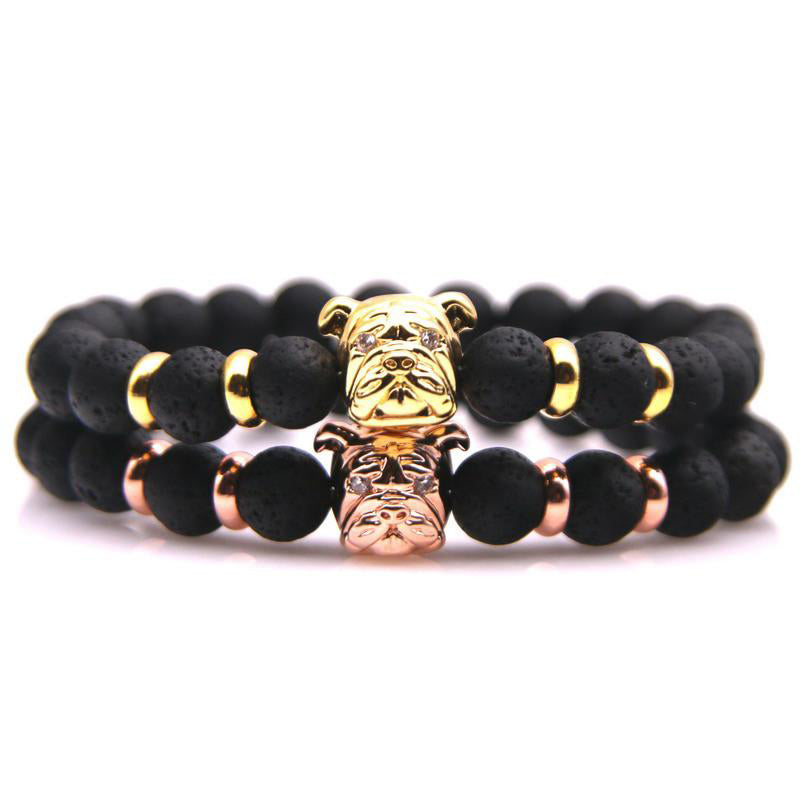 emperor handmade item bracelets stone for beads lava hot selling with natural volcano black male colorful bracelet