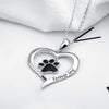 """Forever Love"" Paw Pendant Necklace (Sterling Silver)"