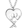 Furry Love Pendant Necklace (Sterling Silver)