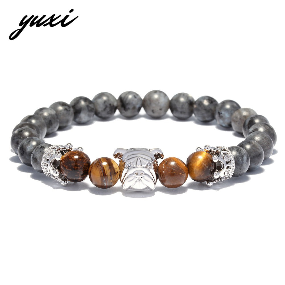 men jewelry lava bead bracelet natural yoga stretch product women stone beads new bangle for