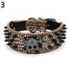 Punk Spiked Studded Skull Faux Leather Collar