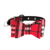 Plaid Designer Bow Tie Collars