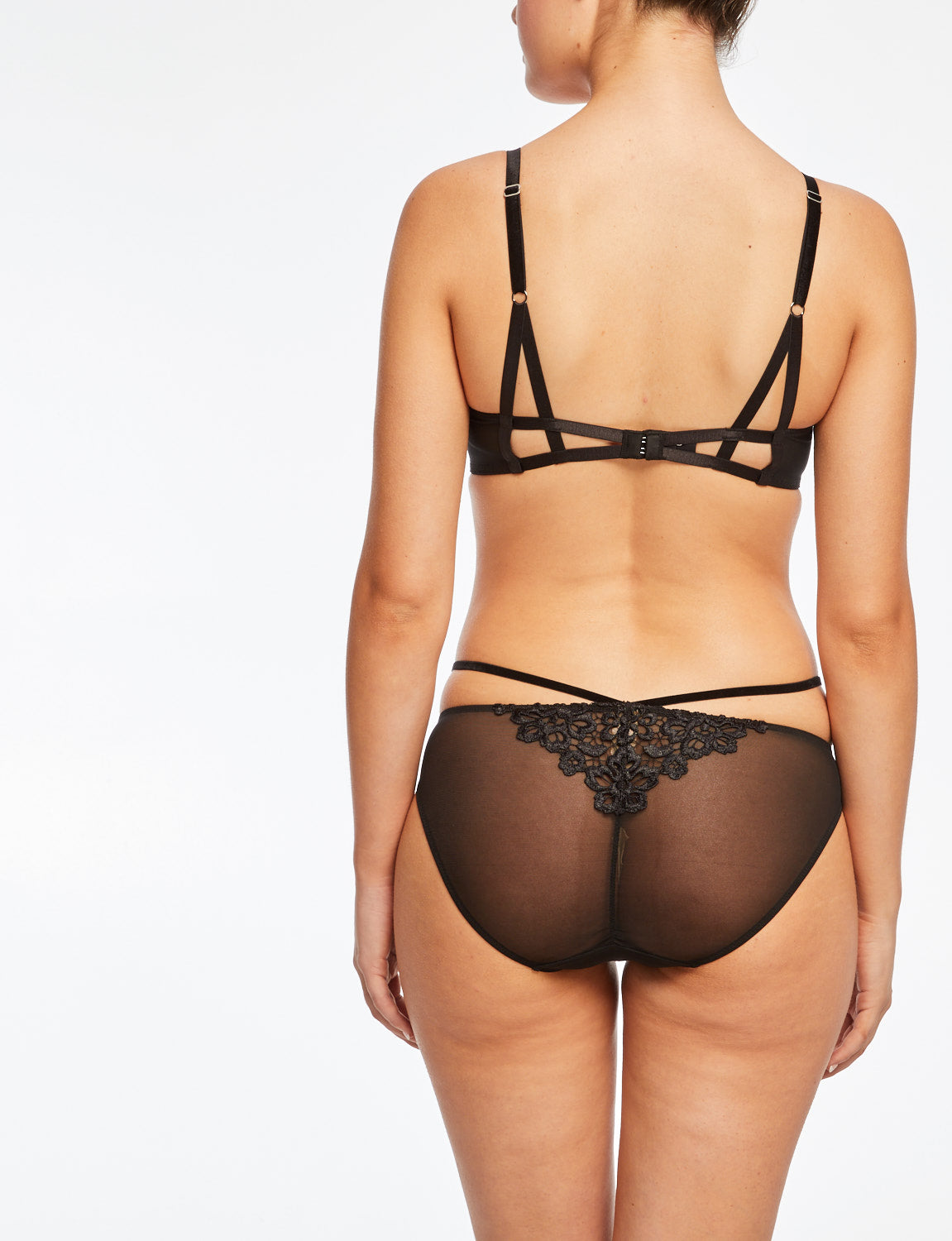 Dita Von Teese Dahlia Bikini Brief Black - size XL only!