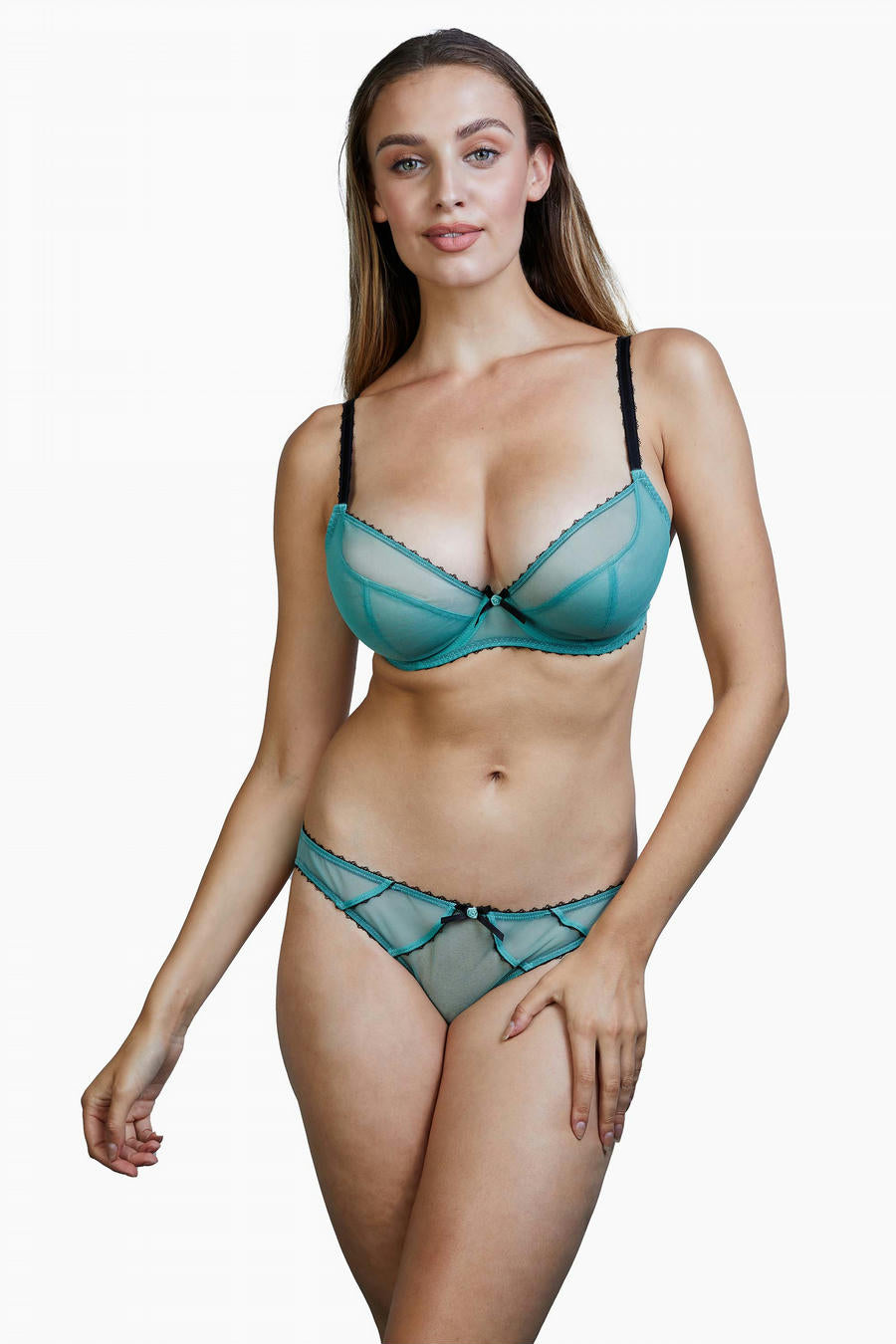 Deja Day Grace in Green Moss + Black Brief 4-16