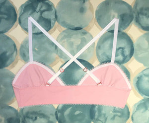 IV for Gigi : Pink Daisies Sharon Front Closure Bralette (exclusive)- only M left!