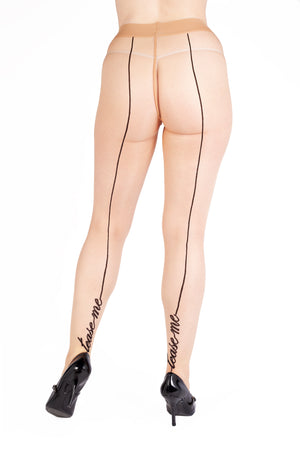 """Tease Me"" Seamed Tights - Size 4-14"