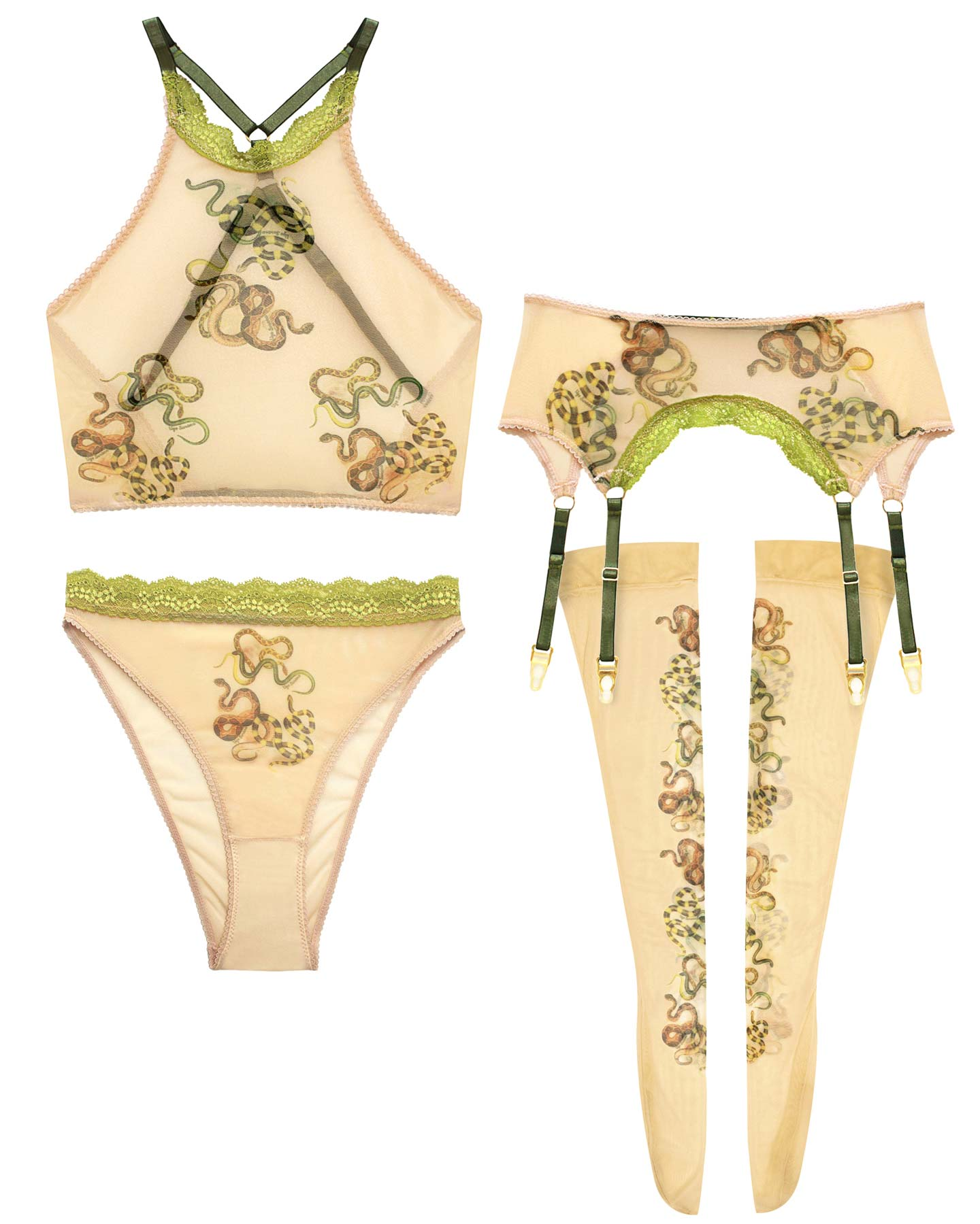 Snakes Printed High Waist Panty - 2X/3X left!