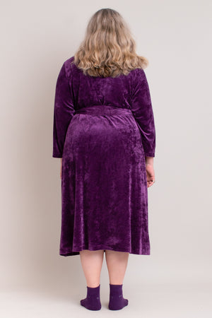 Soft Velvet Robe in Royal Purple - L/XL left!