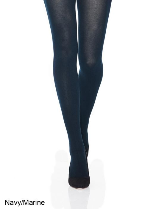 Cotton Tights in Black + Deep Navy S-5X