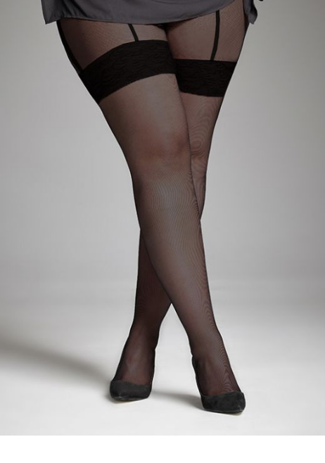Faux Garter Belt Tights S-4X