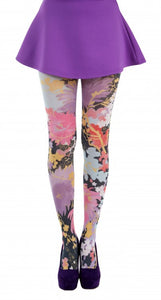 Freesia Floral Printed Tights - sizes 4-20