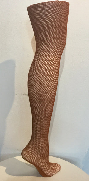 Cabaret Dance Quality Fishnet Tights - Deep Neutral
