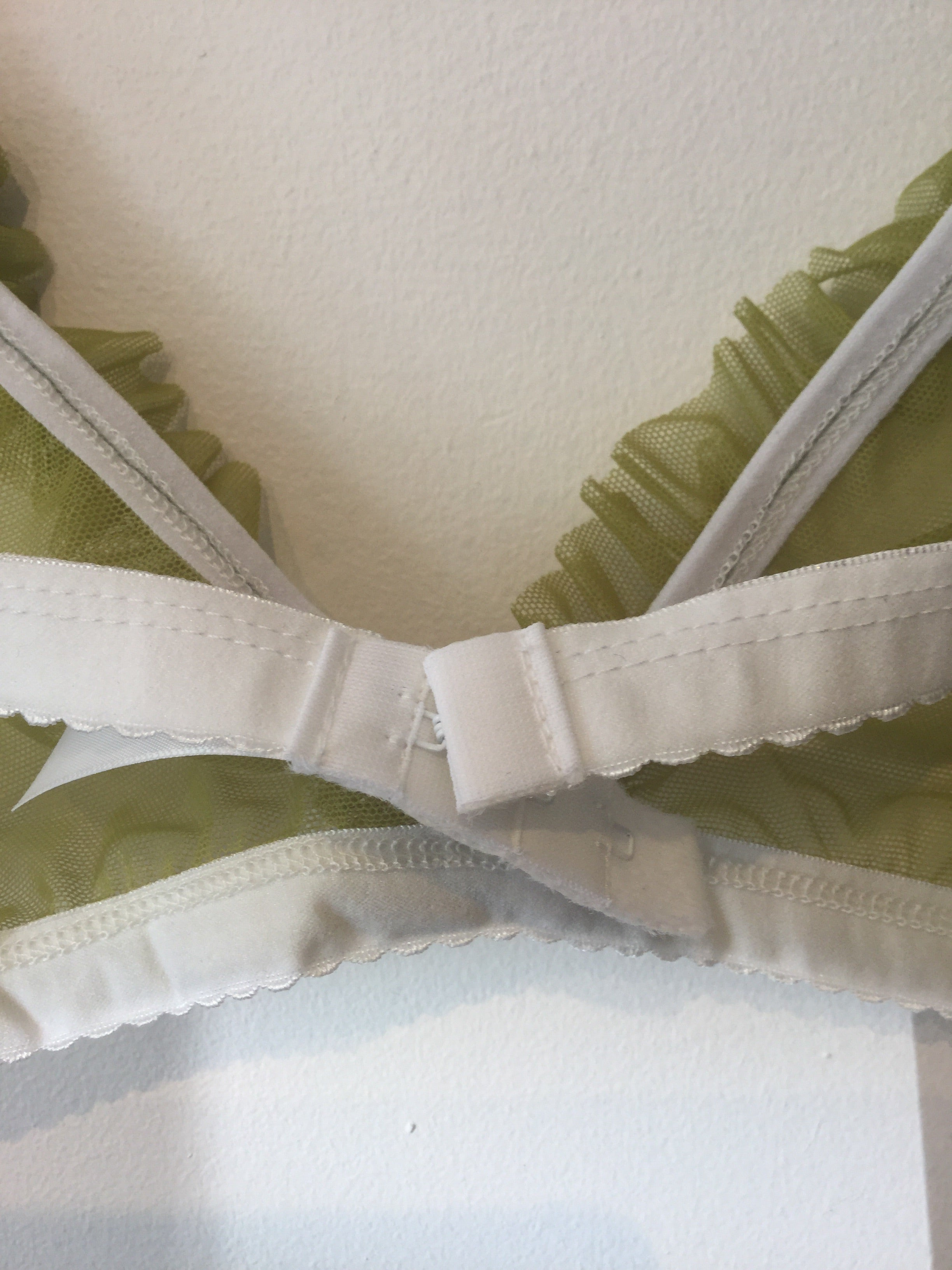 WLL for Gigi: Juicy Pear Ruffle Bralette - only L left!