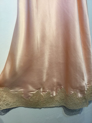 1940's Silk and Lace Sweetheart Slip M/L #129