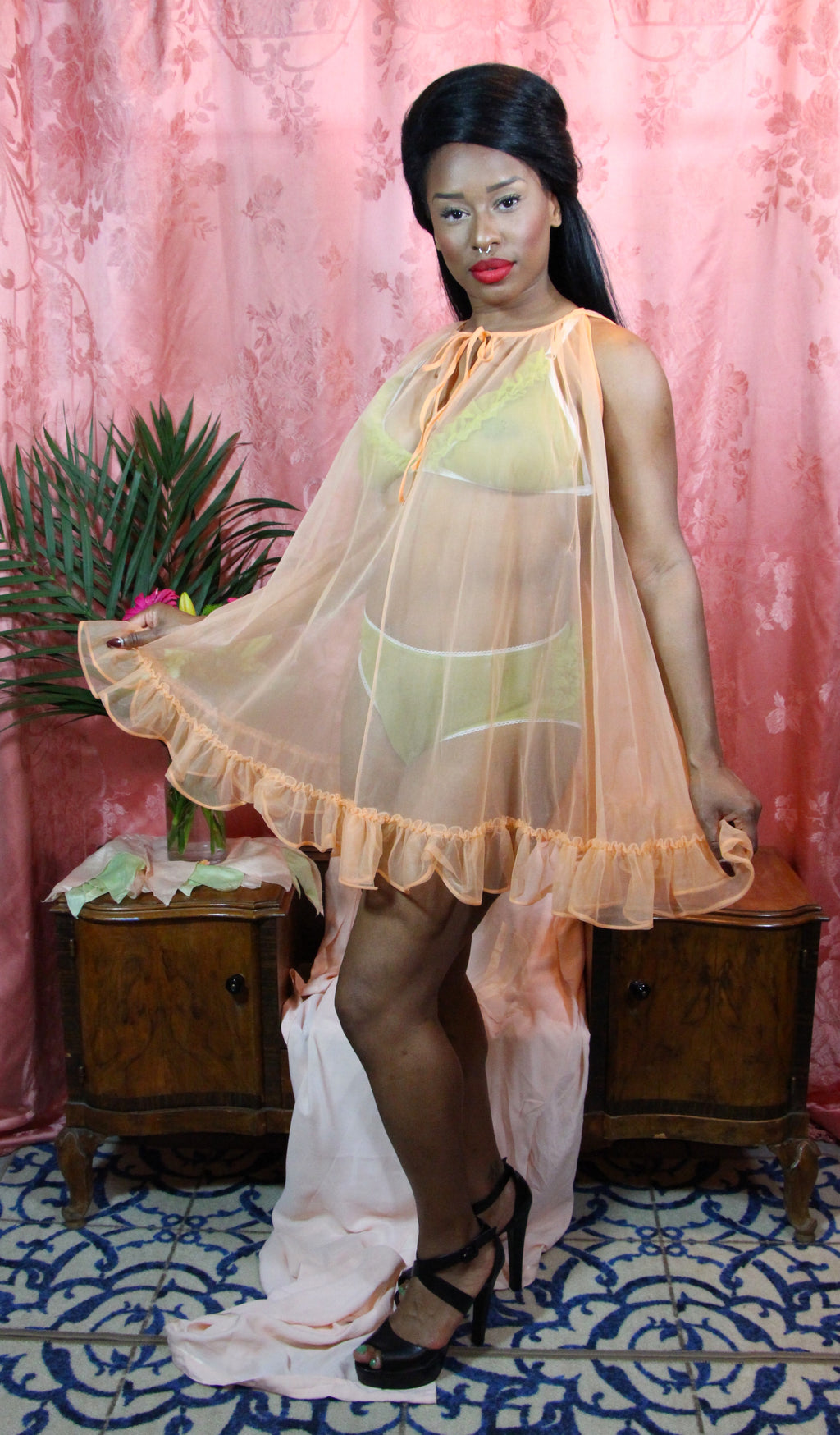 Juicy Orange Sheer Babydoll by Bendon XS-XL+ #117