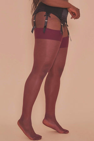Grape Wine Seamed Stockings - Sizes 8/10 + 12/14 left!