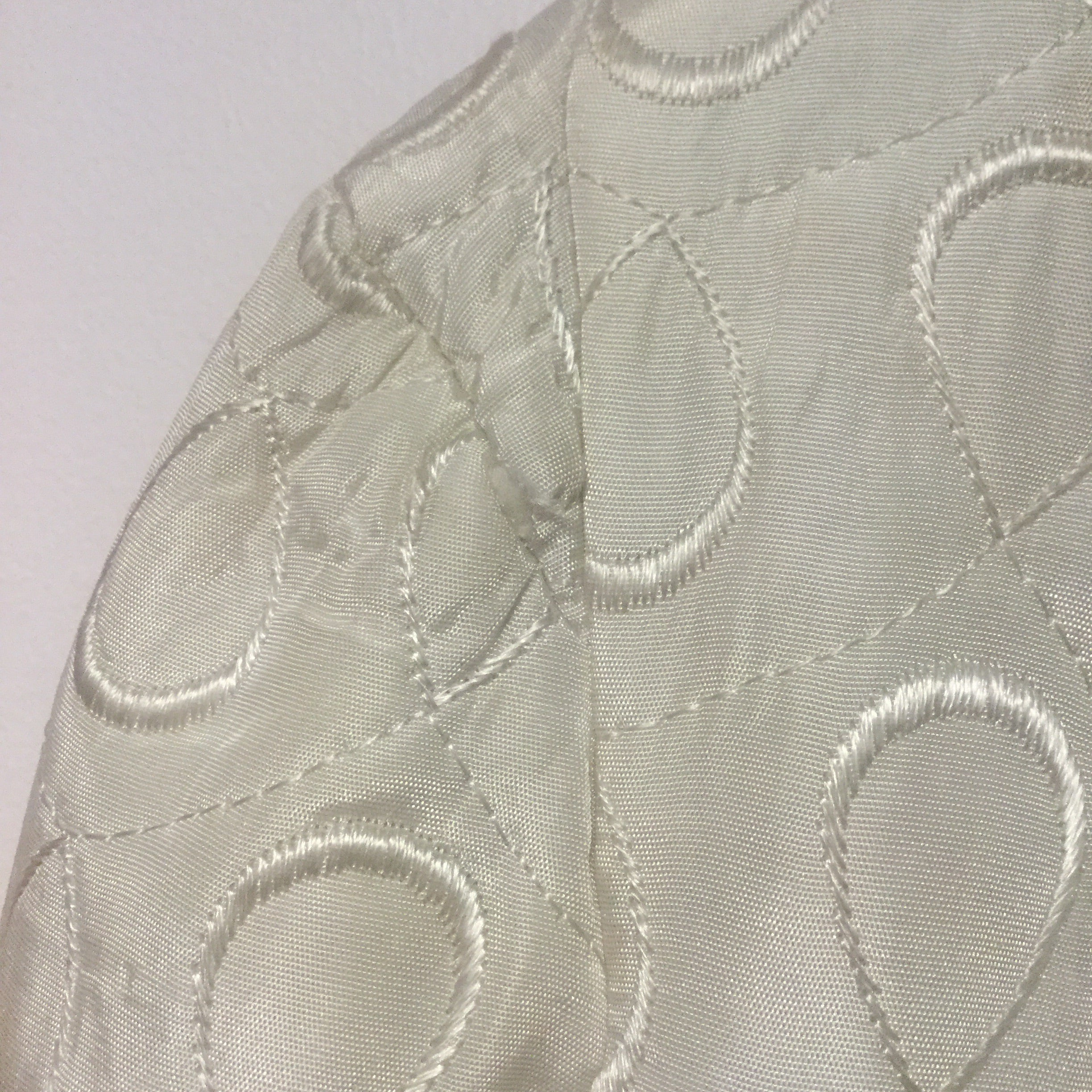 Ivory Quilted Bedjacket S/M #064