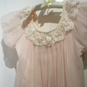 Gotham Powder Pink Peignoir Set S/M/L #055