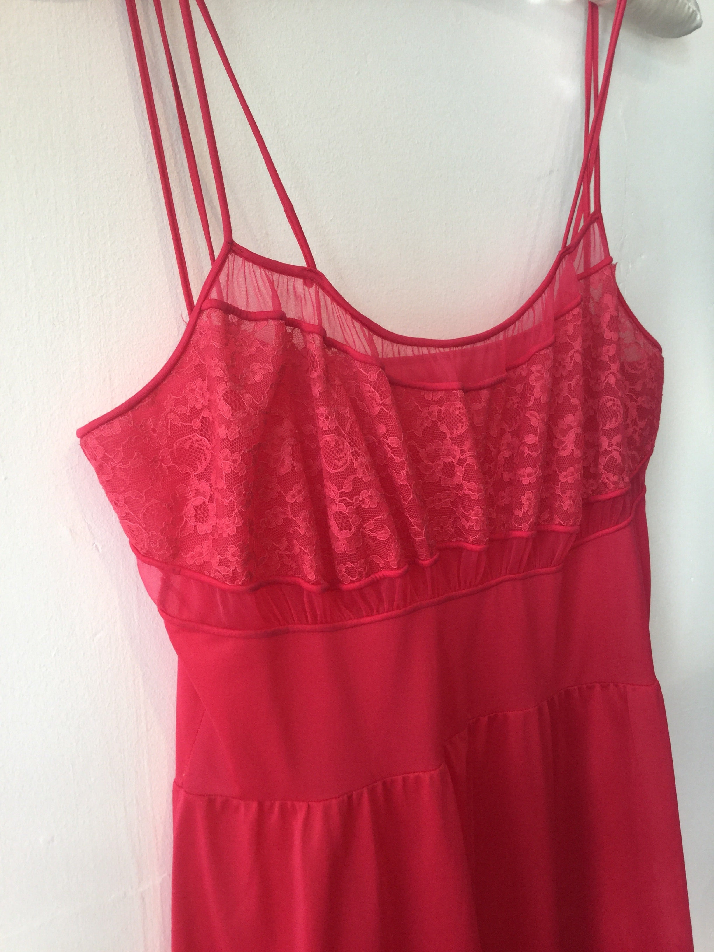 Hot Cherry Red Nightgown Size L/XL #148