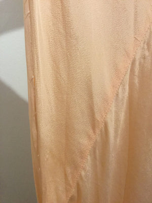 Peach Tissue Silk Gown S #047