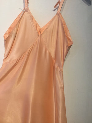 Embroidered Bust Peachy Peach Slip XS/S #077