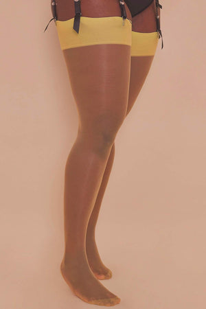Acid Lime Seamed Stockings - Sizes 4-18