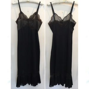 Vanity Fair Semi Sheer Bust Lace Slip L/XL #131