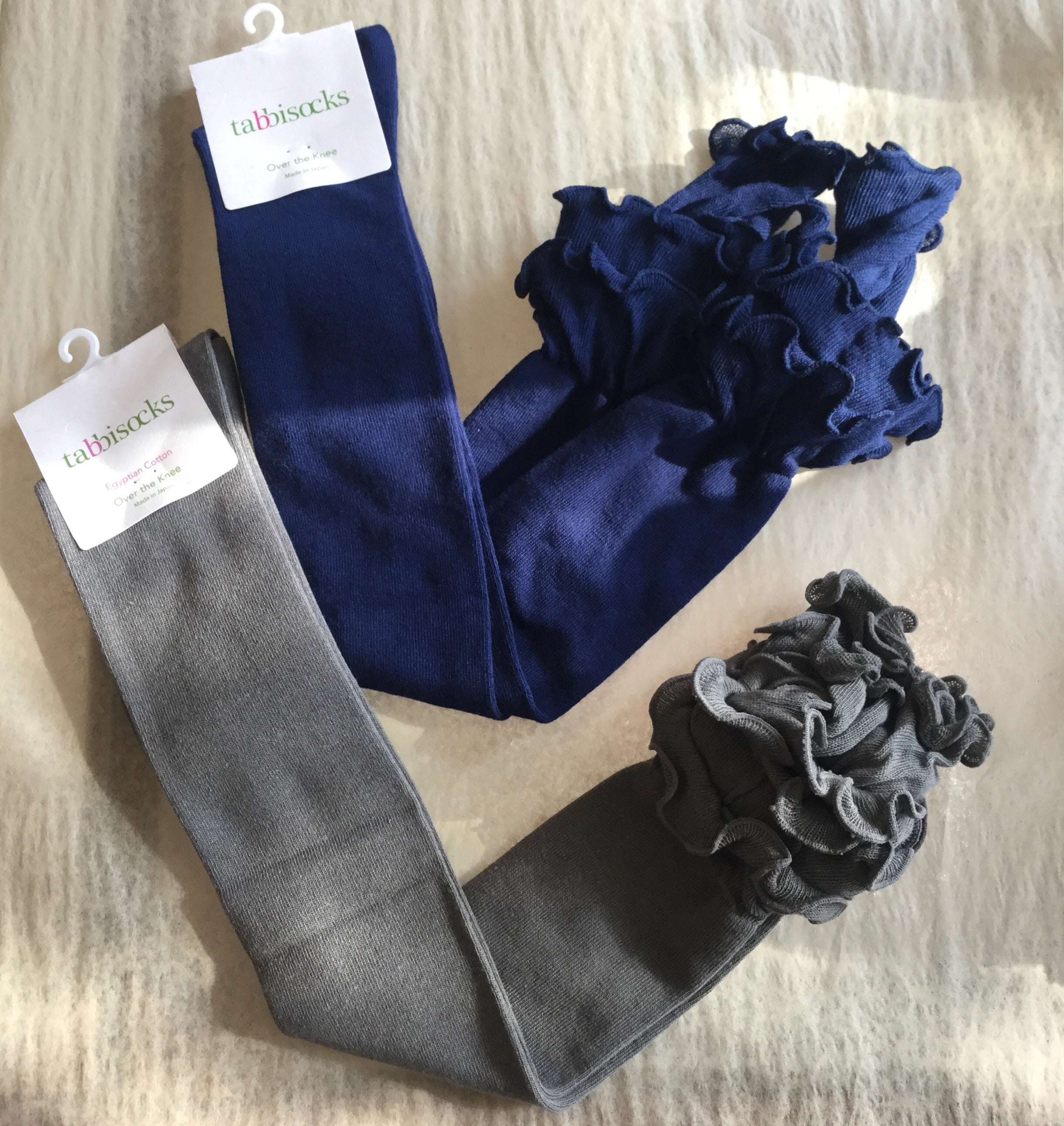 Ruffle Top Egyptian Cotton OTK Socks