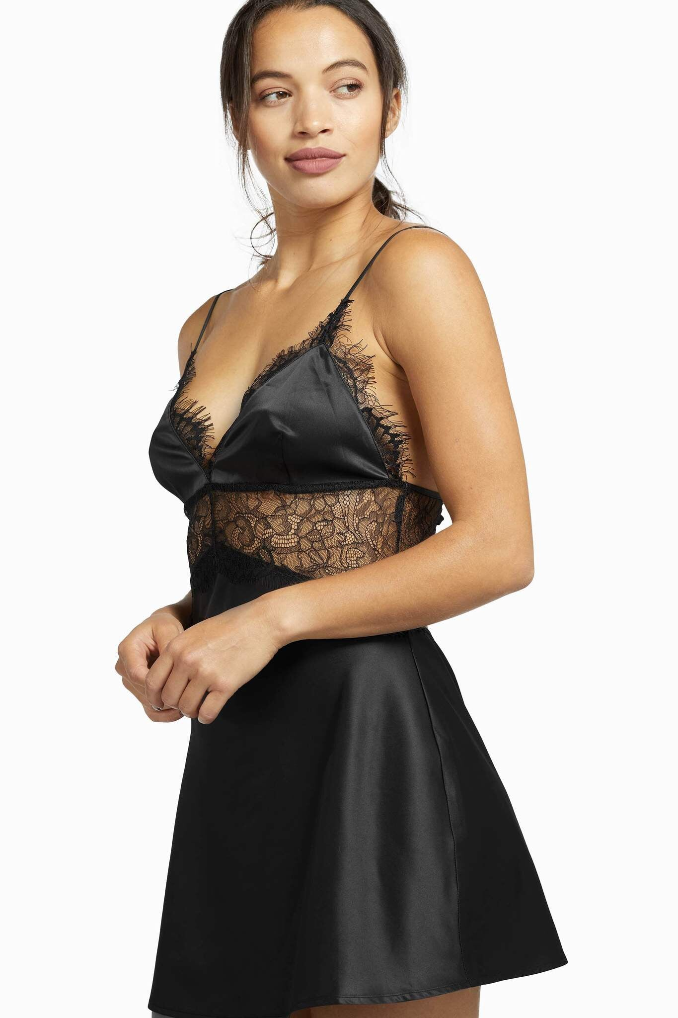 Black Helena Slip dress - sizes 4-12