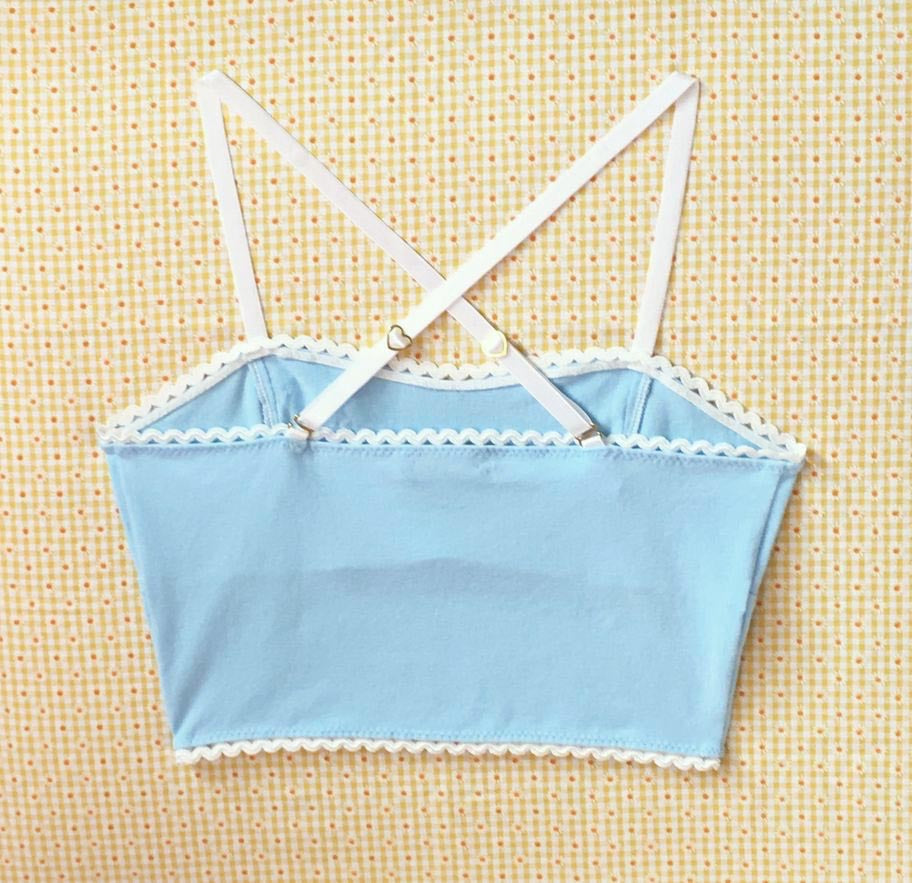 IV for Gigi : Powder Blue Marilyn Longline Bralette