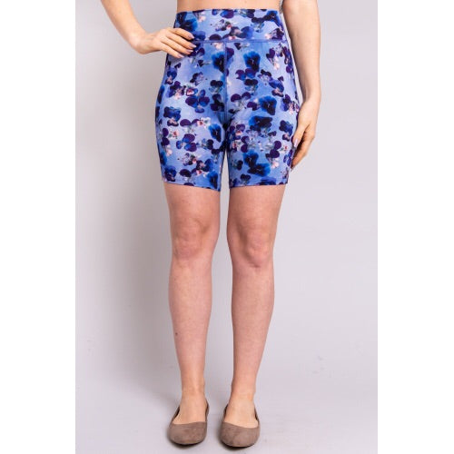 Hallie Under-short in Purple Pansies - XL + 2X left!