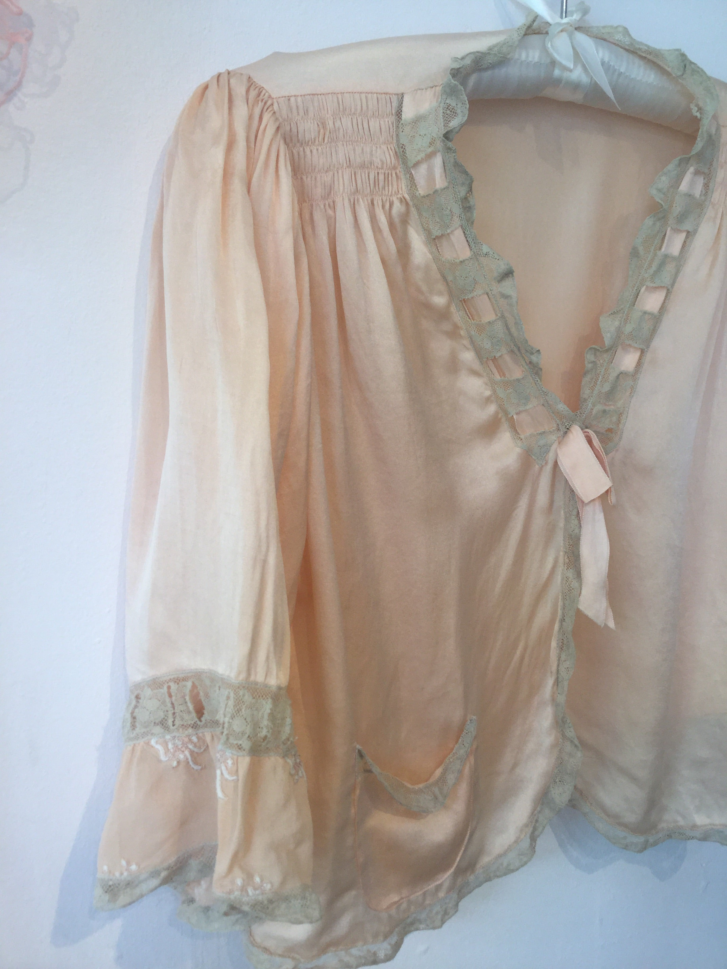 Silk Bed Jacket XS/S/M #090