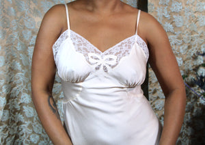 1940's Barbizon Ivory Silk Slip S/M+ #138