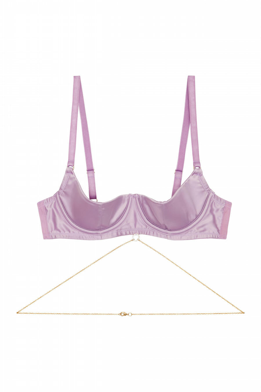 Knox Quarter Cup Bra with Chain - 32F-44K