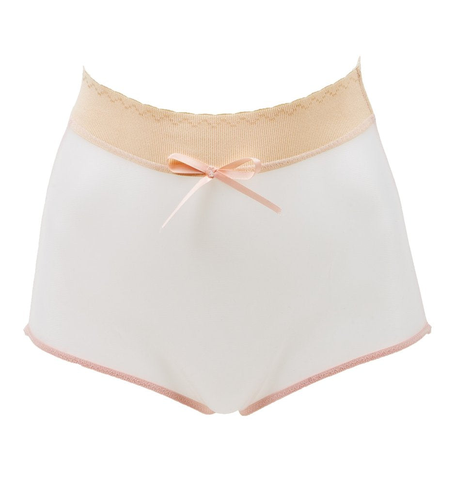 Love Letters High Waist Knicker - Powder Peach + Black