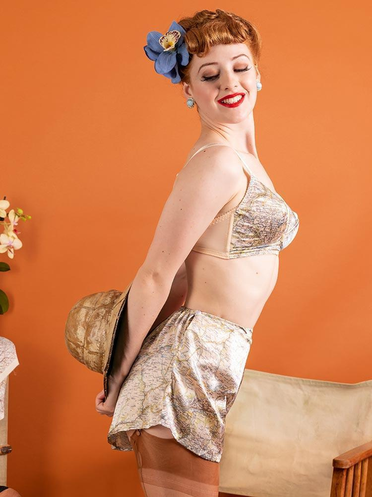 1940's Map French Knickers *Special Order* - size 10 in stock!