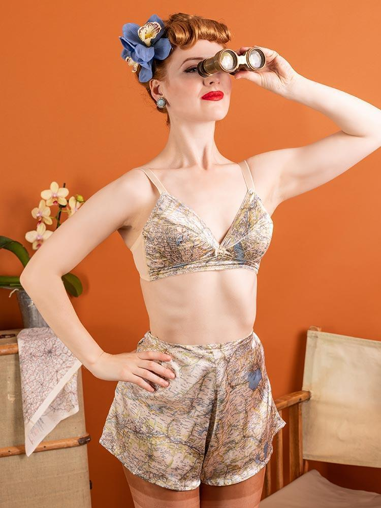 1940's Map French Knickers - size 8 in stock - Available by Special Order